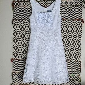 rabbit white petite white lace dress